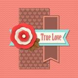 Carte typographique de vacances de jour de valentines rétro Photos stock