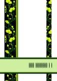 Carte vert jaunâtre de fleurs Photos stock