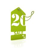 Carte verte 20% de vente images stock