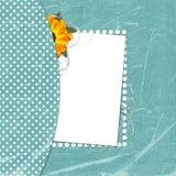 Carte verte de félicitation avec la feuille pour la conception illustration stock