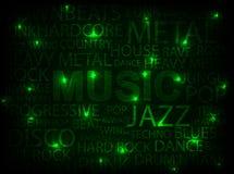 Carte verte de musique Images libres de droits