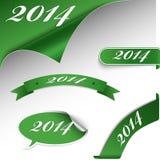 Carte verte de nouvelle année de Noël Photographie stock