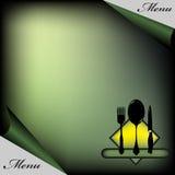 Carte verte de restaurant illustration libre de droits