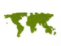 Carte verte du monde Photos stock