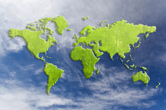Carte verte du monde Images stock