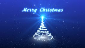 Carte vidéo de Noël de félicitations Créez un arbre de Noël fantastique La neige et les flocons de neige tombent Hiver, Noël, nou banque de vidéos