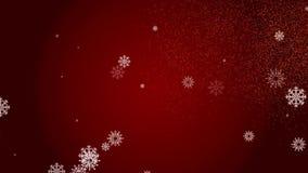 Carte vidéo de Noël de félicitations Joyeux Noël Hiver, Noël, nouvelle année 3D animation, backgr abstrait banque de vidéos