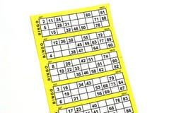 Carte vide de bingo-test Image libre de droits