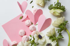 Carte vide de valentine de copyspace Image stock