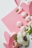 Carte vide de valentine de copyspace Images stock