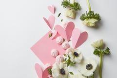 Carte vide de valentine de copyspace Photographie stock