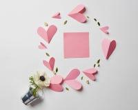 Carte vide de valentine de copyspace Photographie stock libre de droits