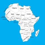 Carte vide Editable de vecteur de l'Afrique Carte de vecteur de l'Afrique illustration de vecteur