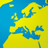 Carte vide verte simple de l'Europe illustration stock