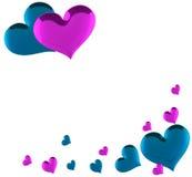 Carte vierge d'amour Photos libres de droits
