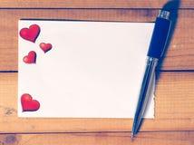 Carte vierge d'amour Photo libre de droits