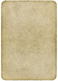 Carte vierge de jeu de cru d'isolement sur un blanc. Images libres de droits