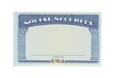 Carte vierge de sécurité sociale photos libres de droits