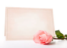 Carte vierge pour des félicitations Photographie stock libre de droits
