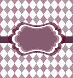 Carte violette de cru Photographie stock