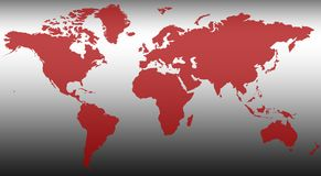 Carte XVI du monde illustration stock