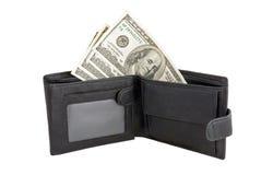Carteira com dólares Imagem de Stock