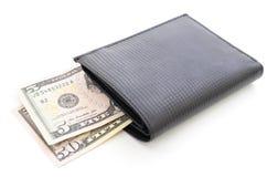 Carteira com dólares Foto de Stock Royalty Free