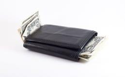 Carteira com dinheiro Fotografia de Stock