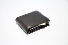 Carteira com dinheiro para dentro Imagem de Stock