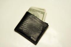 Carteira completamente de contas de dólar Imagens de Stock Royalty Free