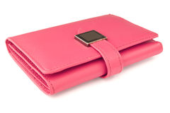 Carteira cor-de-rosa imagens de stock royalty free
