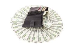 Carteira da imagem com dólar Fotografia de Stock Royalty Free