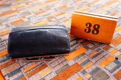 Carteira de couro Imagem de Stock