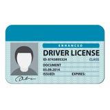 Carteira de motorista Imagens de Stock Royalty Free