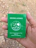 A carteira de motorista Imagens de Stock Royalty Free