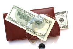 Carteira do dinheiro Fotos de Stock