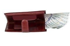 carteira do ` s dos homens com dinheiro Fotos de Stock
