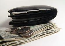 Carteira e dinheiro imagem de stock royalty free