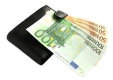 Carteira e dinheiro Fotos de Stock