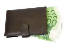 Carteira e euro Imagem de Stock