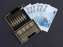 Carteira e Euros Foto de Stock Royalty Free