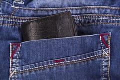 Carteira em um bolso Imagem de Stock