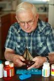 Carteira vazia do Grandpa fotos de stock royalty free