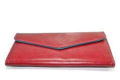 Carteira vermelha Imagem de Stock Royalty Free