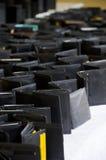 Carteiras de couro pretas Imagem de Stock