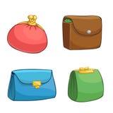Carteiras e bolsas da cor Foto de Stock