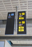 Cartel_2. Sign indicative in an airport Stock Images