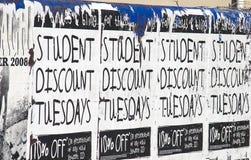 Cartel #2 del descuento del estudiante Imagen de archivo