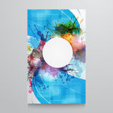 Cartel abstracto de la plantilla del fondo con la pintura de la acuarela Imagen de archivo