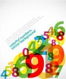 Cartel abstracto de los números Imagen de archivo